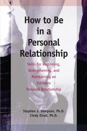 Cover of: Personal Relationships
