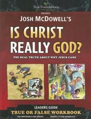 Cover of: Is Christ Really God?: Children's Workbook (True Foundations)
