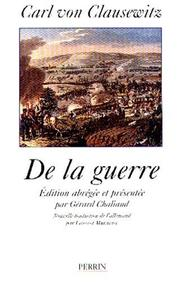 Cover of: De la guerre