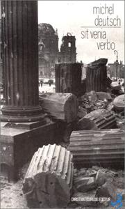 Cover of: Sit venia verbo