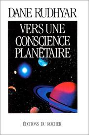 Cover of: Vers une conscience planétaire