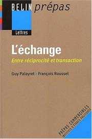 Cover of: L'échange