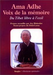 Cover of: Ama Adhe, voix de la mémoire