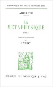 Cover of: La métaphysique