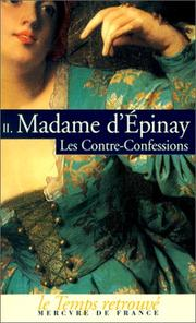 Cover of: Les Contre-confessions, tome 2