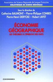 Cover of: Economie géographique