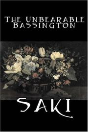 Cover of: The Unbearable Bassington