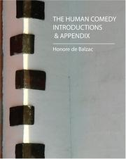 Cover of: The Human Comedy  Introductions & Appendix