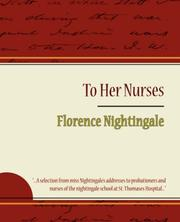 Cover of: To Her Nurses - Florence Nightingale