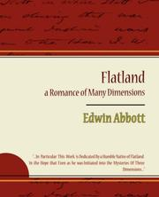 Cover of: Flatland: a Romance of Many Dimensions