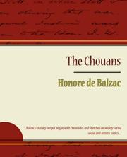 Cover of: The Chouans - Honore de Balzac