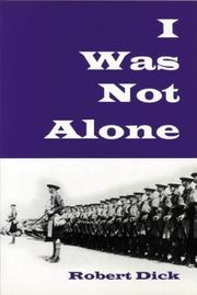 Cover of: I Was Not Alone