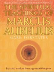 Cover of: The Spiritual Teachings of Marcus Aurelius