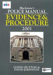 Cover of: Evidence and Procedure (Blackstone's Police Manuals)