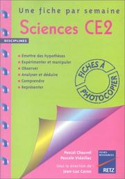Cover of: Sciences, CE2