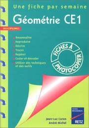 Cover of: Géometrie CE1