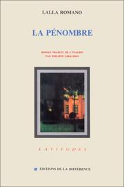 Cover of: La pénombre