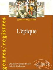 Cover of: L'épique