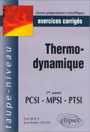 Cover of: Exercices corrigés : Thermodynamique