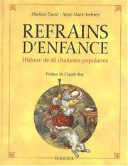 Cover of: Refrain d'enfance