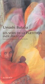Cover of: Les Voix de la partition Inde-Pakistan