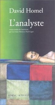 Cover of: L'Analyste