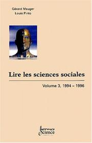 Cover of: Lire les sciences sociales, tome 3, 1994-1996