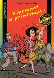 Cover of: Vivement le printemps !