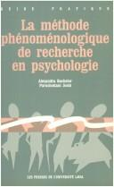 Cover of: LA Methode Phenomenologique De Recherche En Psychologie
