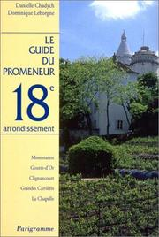 Cover of: Guide du promeneur, 18e arrondissement