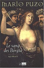 Cover of: Le Sang des Borgia