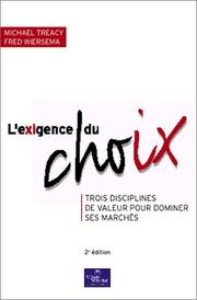 Cover of: L'Exigence du choix