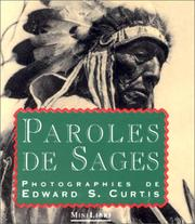 Cover of: Paroles de sages