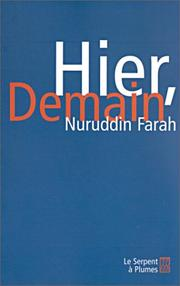 Cover of: Hier, demain