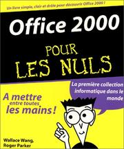 Cover of: Office 2000 pour les nuls