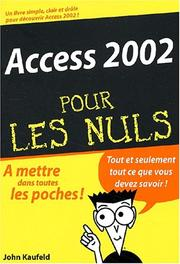 Cover of: Access 2002