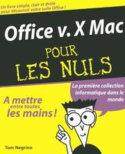 Cover of: Office X Mac pour les nuls