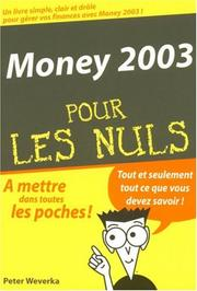 Cover of: Money poche 2003 pour les nuls