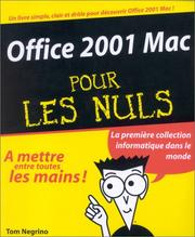 Cover of: Office 2001 Mac pour les nuls