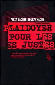 Cover of: Plaidoyer pour les justes