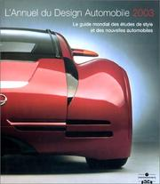 Cover of: L'Annuel du design automobile 2003