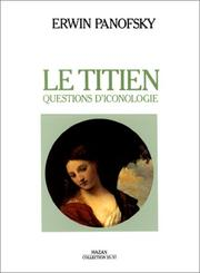 Cover of: Le Titien. Questions d'iconologie