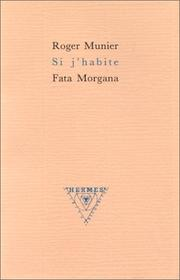Cover of: Si j'habite