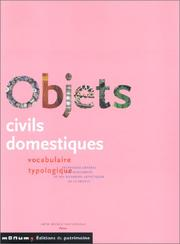 Cover of: Objets civils domestiques