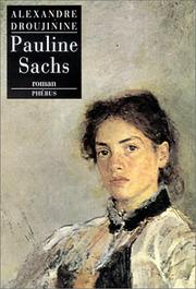 Cover of: Pauline Sachs