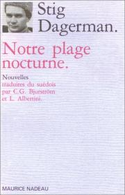 Cover of: Notre plage nocturne