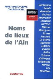 Cover of: Noms de lieux de l'Ain