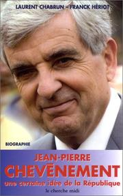 Cover of: Jean-Pierre Chevènement