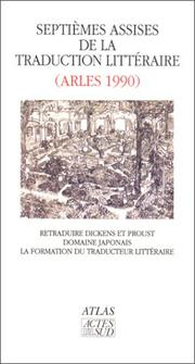 Cover of: Septièmes Assises de la traduction littéraire