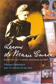 Cover of: Leçons de Marie Curie